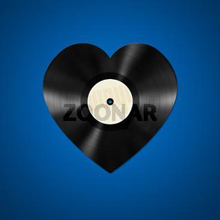 vinyl heart shape