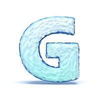Ice crystal font letter G 3D
