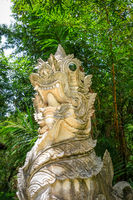 White statue in Wat Palad temple, Chiang Mai, Thailand