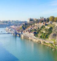 Douro river Old Town Porto