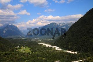 Slowenien, Aussicht vom Boka Wasserfall
