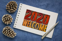 2020 welcome - New Year greeting card