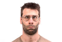 Goofy man with vintage glasses