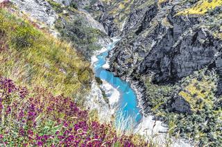 Neuseeland Südinsel - Schlucht mit dem Shotover River an der Skippers Canyon Road nördlich von Queenstown in der Otago Region