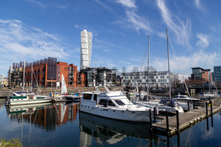 Small Sailboat Harbour in Malmo, Sweden
