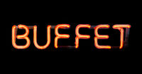 Isolated Neon Buffet Sign