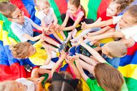 Group of children siting in a circle
