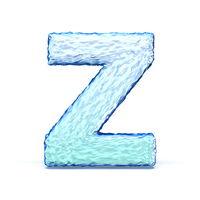Ice crystal font letter Z 3D