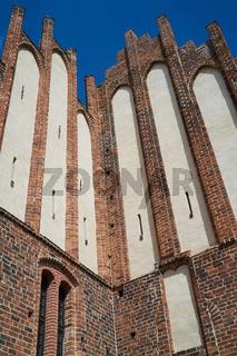 Detail der Fassade des historischen Domes in Havelberg