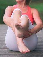 Woman Doing Yoga Closeup