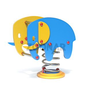 Elephant spring swing 3D