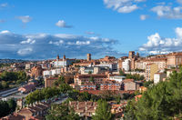 Panoramic view of Teruel, a city in Aragon, Spain