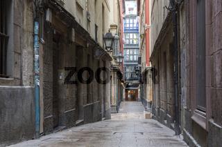 Historische Gasse in Bilbao, Baskenland