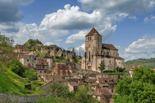View of Saint-Cirq-Lapopie, France