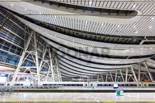Beijing South railway train station modern architecture in China