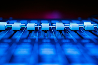 Horizontal Pro Audio Mixing Desk Faders