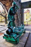 mahnmal für die gefallenen des ersten weltkrieges in wurzen, deutschland