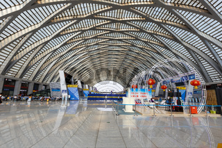 Tianjin West railway train station in China