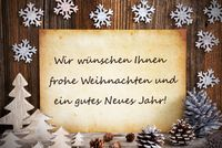 Old Paper, Christmas Decoration, Gutes Neues Means Happy New Year