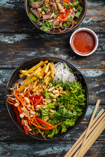Asian style noodles salad