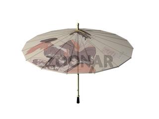 bunt bemalter japanischer Sonnenschirm