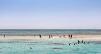 Red sea white sandy island. Egypt, Sharm El Sheikh.