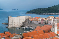Dubrovnik Old Town port and marina
