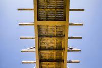 simple wooden bridge