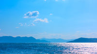 Panorama of the sea with islands