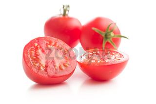 Tasty sliced tomato.