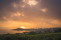 Porthgwidden Beach in St. Ives at dawn