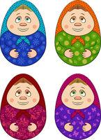 Easter Eggs Dolls Matrioshka