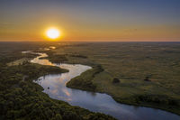 sunrise over Dismal River in  Nebraska Sandhills