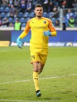 Torwart Fabijan Buntic ( FC Ingolstadt 04) beim Punktspiel in Magdeburg am 07.12.2019