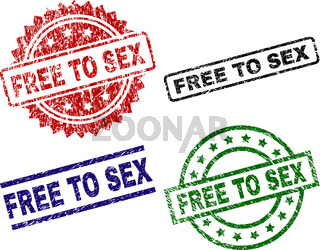 Scratched Textured FREE TO SEX Stamp Seals