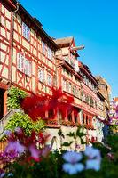 Fachwerkhäuser in Meersburg am Bodensee