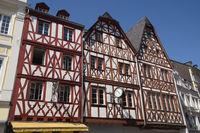 Trier - Fachwerkhäuser nahe des Hauptmarktes, Deutschland