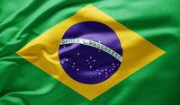 Waving national flag of Brazil