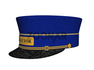 blauer Hut des Kontrollörs