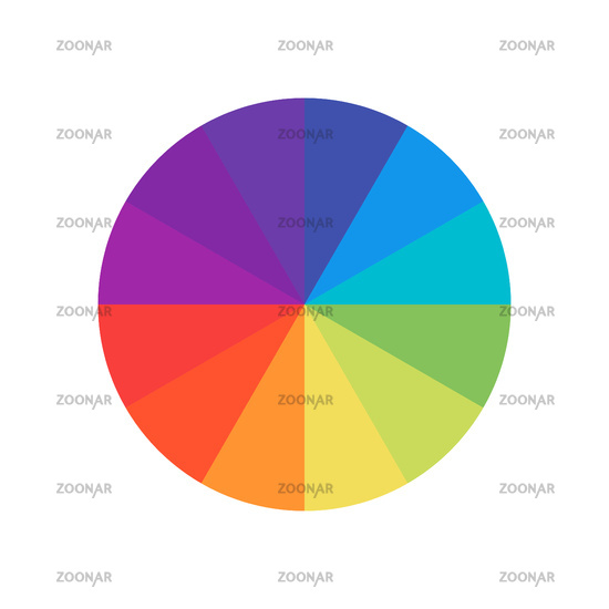 Colored circle. Wheel colour spectrum. Circle palette. Multicolored circle flat template.