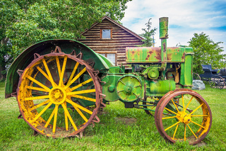 Old tractor in Hythe Alberta Canada