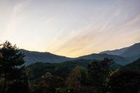 yongmunsa mountain sunset
