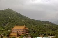 The enormous Monastery Po Lin
