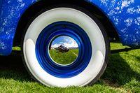 vintage classic American blue car wheel