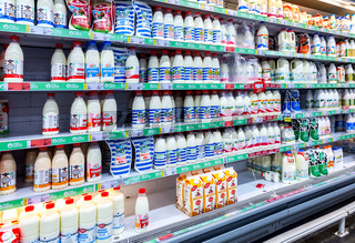Dairy products ready for sale