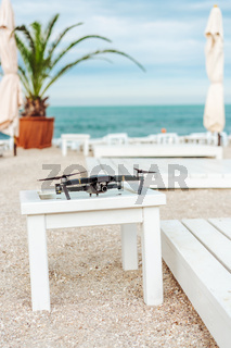 drone stands on the table