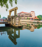 Melaka Sultanate Watermill stands, Malaysia