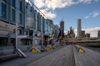 Pier 17 at the Seaport District at daytime in Autumn