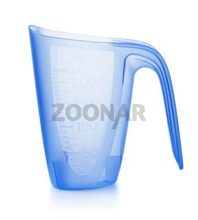 Blue plastic washing powder measuring cup