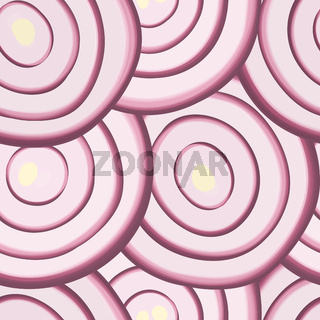 Seamless red onion slices